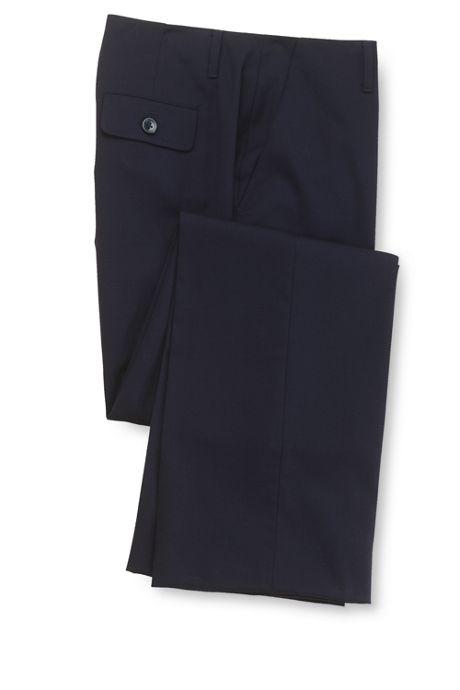 Women's Pre-hemmed Curvy No-waist Gabardine Trousers