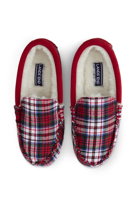 Kids Flannel Moc Slippers
