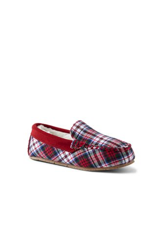 Kids' Flannel Moccasin Slippers
