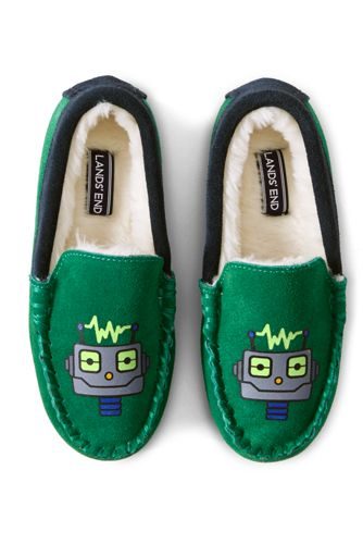 Kids' Robot Moccasin Slippers