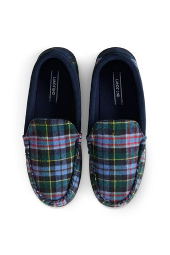 Men's Flannel Moccasin Slippers