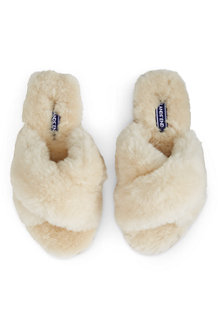 Women's Shearling Open Toe Slippers