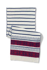 Women's Stripe Fair Isle Scarf