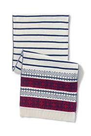 Women's Stripe Fair Isle Scarf