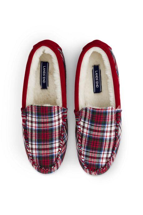 Women's Flannel Moc Slippers