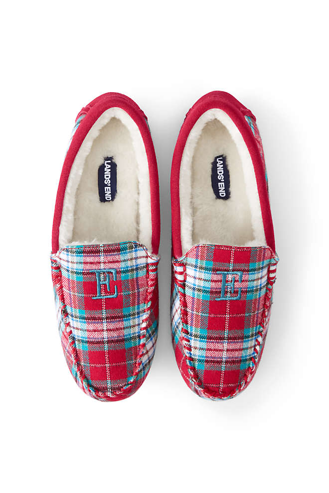 Women's Moccasin Slippers-Plaid, Unknown