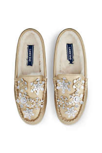 Women's Snowflake Clog Moccasin Slippers, alternative image