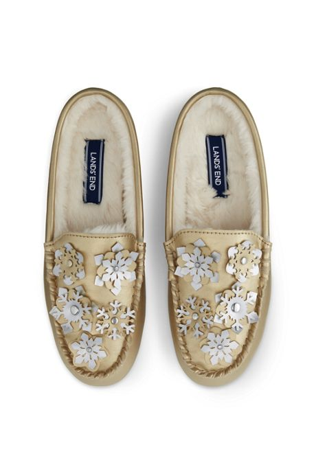 Women's Snowflake Clog Moccasin Slippers