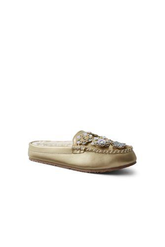 Les Pantoufles Simili-Cuir Flocons en Relief, Femme Pied Standard