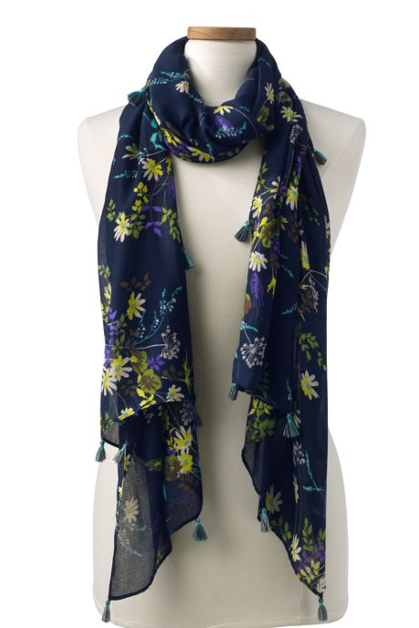 Women's Winter Floral Scarf