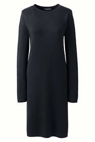 Women's Long Sleeve Roll Neck Sweater Dress