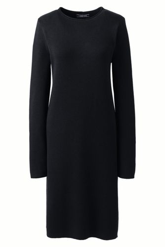 Women's Plus Rolled Neck Detail Knitted Dress