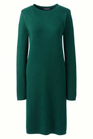 Women's Plus Size Long Sleeve Roll Neck Sweater Dress