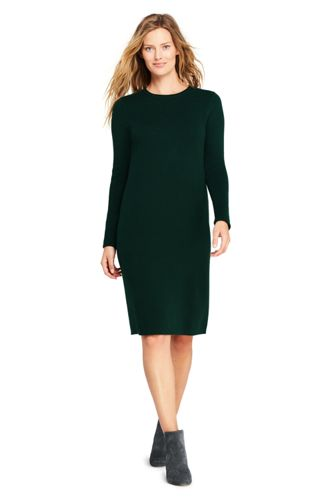 Women's Long Sleeve Roll Neck Sweater Dress by Lands' End