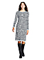 Women's Plus Rolled Neck Leopard Jacquard Knit Dress