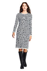 8d5a3ed2deb1 Women s Long Sleeve Roll Neck Print Sweater Dress