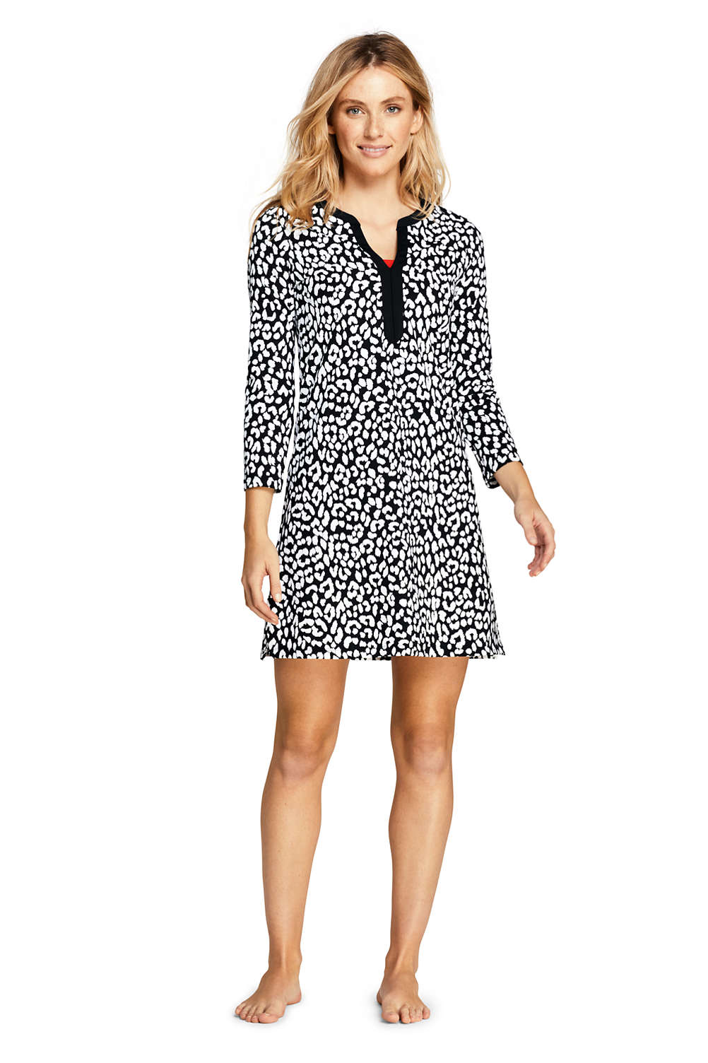 c929b4be57 Women's Swim Cover-up Tunic Dress with UV Protection Print from Lands' End