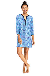 17285ddb4f Women s Swim Cover-up Tunic Dress with UV Protection Print
