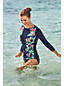 Women's Print Boat Neck Rash Vest