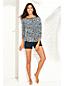 T-Shirt Manches 3/4 Protection Solaire à Motifs, Femme Stature Standard