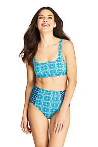 1e59bd0ccbffa Women's Square Neck Bikini Top Swimsuit Print