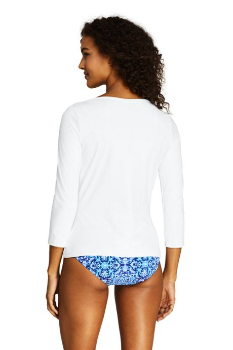 Women's Swim Cover-up Boatneck Swim Tee Rash Guard