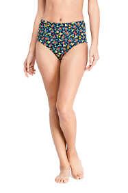 Women's Retro High Waisted Bikini Bottoms Print