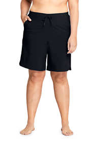 "Women's Plus Size Comfort Waist 9"" Swim Shorts with Panty"