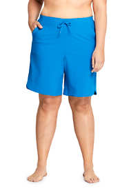 "Women's Plus Size Comfort Waist 9"" Board Shorts"