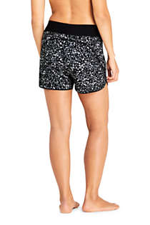 "Women's 5"" Quick Dry Elastic Waist Board Shorts Swim Cover-up Shorts with Panty Print, Back"