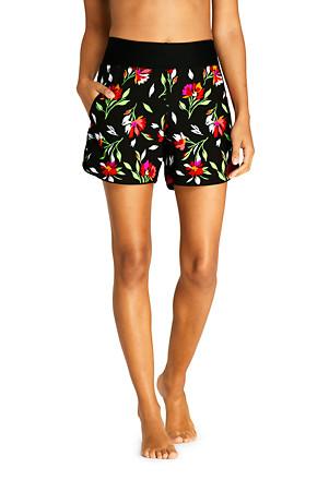 3706d59da7 Women's AquaSport Print Comfort Waist 5'' Swim Shorts | Lands' End