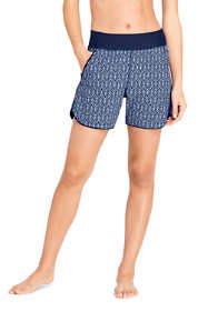 "Women's Comfort Waist 5"" Swim Shorts with Panty Print"