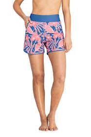 "Women's 5"" Quick Dry Elastic Waist Swim Shorts with Panty Print"