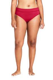 Women's Plus Size Banded Low Waist Hipster Bikini Bottoms