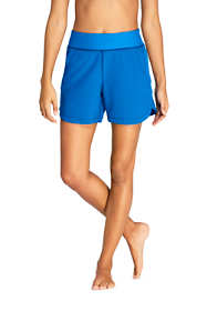 "Women's Petite Comfort Waist 5"" Swim Shorts with Panty"