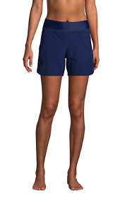 "Women's Petite 5"" Quick Dry Elastic Waist Swim Shorts with Panty"