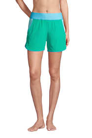 """Women's 5"""" Quick Dry Elastic Waist Board Shorts Swim Cover-up Shorts with Panty"""