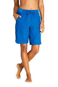 "Women's Petite Comfort Waist 9"" Swim Shorts with Panty"