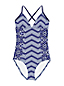 Women's Sunrise Print Cross-back Swimsuit