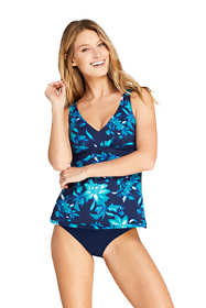 Women's Drape Front Tankini Top Swimsuit Print