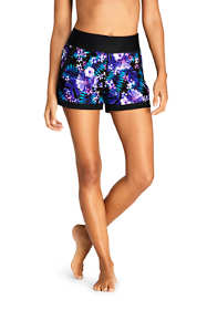 "Women's Comfort Waist 3"" Swim Shorts with Panty Print"