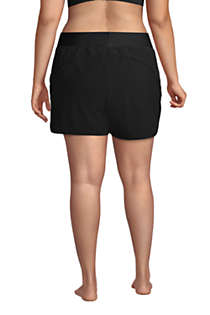 "Women's Plus Size 5"" Quick Dry Elastic Waist Board Shorts Swim Cover-up Shorts with Panty, Back"