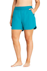 "Women's Plus Size Comfort Waist 5"" Board Shorts"