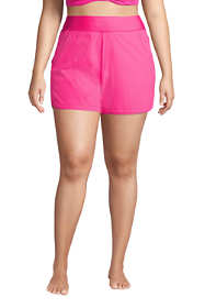 "Women's Plus Size 5"" Quick Dry Elastic Waist Board Shorts Swim Cover-up Shorts with Panty"