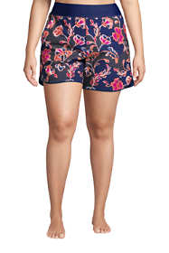 "Women's Plus Size 5"" Quick Dry Elastic Waist Board Shorts Swim Cover-up Shorts Print"