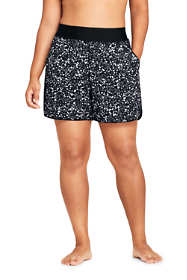 "Women's Plus Size 5"" Quick Dry Elastic Waist Running Board Shorts Swim Shorts Print"