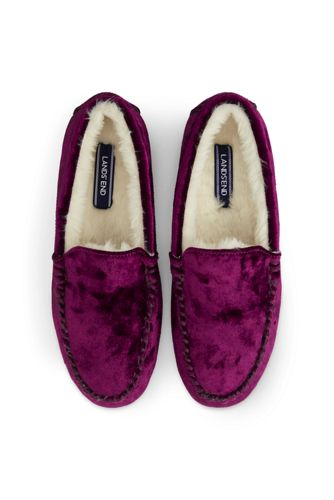 Women's Velvet Moccasin Slippers