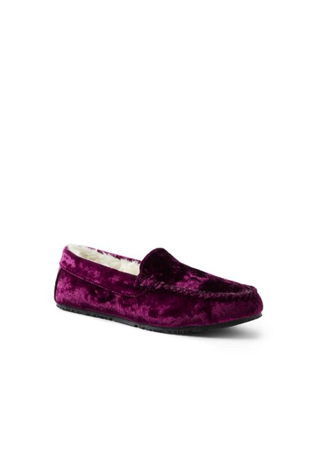 Women's Velvet Moccasin Slippers