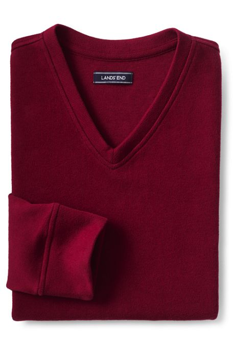 Men's Bedford Rib V-neck Sweater