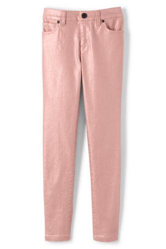 Le Pantalon Denim Métallisé 5 Poches, Fille